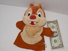 Disney Chip & Dale Chipmunks Vintage 93 Mattel Plush Hand Puppet