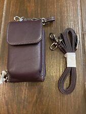Levenger Carezza 2 Strap Smart Phone Case And Wallet Eggplant