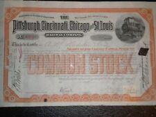 The Pittsburg,Cincinnati,Chicago & St. Louis Railroad Co.1890's FREE SHIPPING