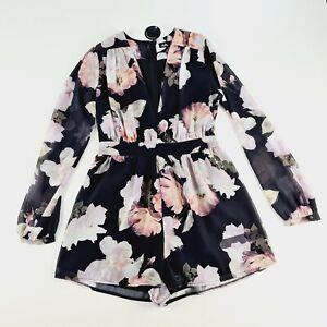 Dotti Womens Floral Jumpsuit Size 8 NWT