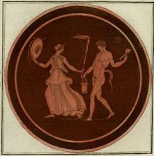 Décoration Etrusque Mythologie Satyre Grèce Ephèbe Hamilton Gravure 1785