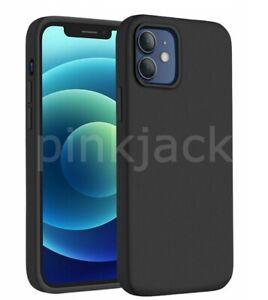 Liquid Silicone Case For iPhone 13 Pro Max 12 Mini 11 8 7 XR XS X SE Black Cover