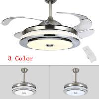 "42"" Invisible Fan Chandelier Light Lamp Fan LED Ceiling Light Remote Control"