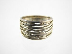 Sterling Silver Branching Design Band Ring 925 Size 8 Weighs 5.5 Grams