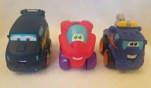 "Lot of 3 Tonka Chuck & Friends 4"" Soft Trucks - Hasbro 2008 / 2010"