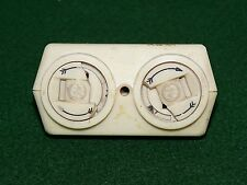 RARE VINTAGE Ivory General Electric No-Shok Twist Electrical Outlet Receptacle