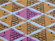 Schumacher Curtain Fabric 'FISH SCHOOL' 3.1 METRES Orange/Pink VERA NEUMANN