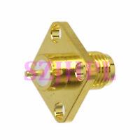 2pcs Connector SMA female jack 4-hole 12.7mm flange solder for panel