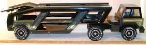 Vintage Steel 1984 Black Tonka Truck Car Carrier Transporter XMB975 EXC Cond