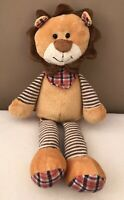 Jellycat Happy Patches Lion Comforter Baby Soft Toy Striped + Scarf Retired Rare