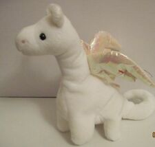TY BEANIE BABY MAGIC THE DRAGON - HOT PINK STITCHING WITH 14 ERRORS- PVC PELLETS