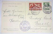 AK Karte Flugplatz Zürich Schweiz 1925 Flugpost Luftpost Ganzsache GA (78