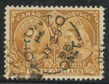 Canada 1897 QV Jubilee $3.00 bistre #63 XF CDS - VGG cert