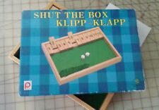 shut box  wood Pintoy dice game