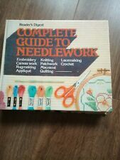 READERS DIGEST COMPLETE GUIDE TO NEEDLEWORK HARDBACK BOOK SEWING EMBROIDERY