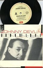 "JOHNNY DEVLIN    Rare 1987 Australian Only 7"" OOP Rock P/C Single ""Book Of Love"""