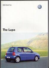Volkswagen Lupo 2003-04 UK Market Sales Brochure E S Sport GTi