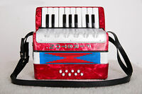 Professional 17 Key 8 Bass Red Children Musical Instruments Accordion #
