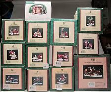 Dept 56 Complete Twelve Days of Christmas Plus Sign, Dickens Village Series