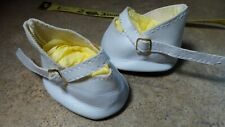 Cute! Pair of White Shoes with Gold Buckles for Vintage Antique and Artist Dolls