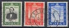 Noorwegen gestempeld 1954 used 387-389 - Telegrafie 100 Jaar