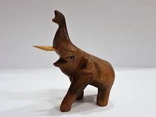 Elefant aus Holz geschnitzt niedlich Handarbeit Unikat Deko Tierfigur Skulptur
