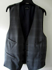 Paul Smith Panciotto PS Grigio Gilet A Quadretti L Giromanica a Ascella 50.8cm