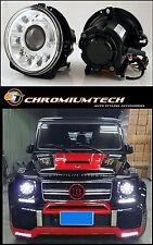 1990-2009 Mercedes W463 G-CLASS G-Wagen CHROME Projector Headlights AMG G55 LHD