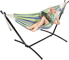 New listing Kanchimi Hammock With Stand,Max Load 450Lbs,Portable Double Hammock For Para Pat