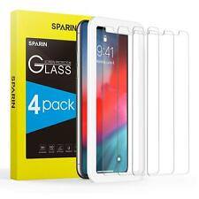 For iPhone Ten XS Screen Protector 4 Pack Full Tempered Glass High Definition