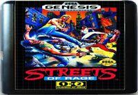 Streets Of Rage (1991) 16 Bit Game Card For Sega Genesis / Mega Drive System