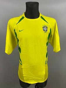 BRAZIL 2002/2004 HOME BRASIL FOOTBALL SOCCER JERSEY SHIRT SIZE L