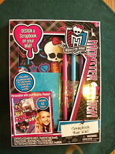 Monster High Scrapbook  Kit make fun project Scrapbook your Wall Art 6+