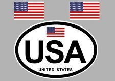UNITED STATES OF AMERICA BUMPER STICKER FOR CAR BIKE CARAVAN TRAILER