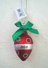 "GANZ ""Light Up the Holidays""  Personalized Ornament  Many Names Available NWT"