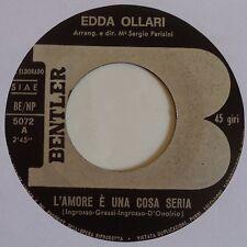 EDDA OALLRI ~ ITALY soul 45 RARE unknown BENTLER ~ HEAR IT