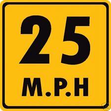 Custom Speed Limit Advisory Road Sign