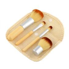 4pcs Bamboo Handle Foundation Powder Bronzer Concealer Kabuki Makeup Brushes Set