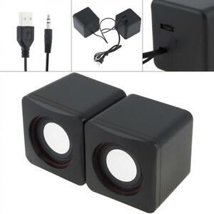 USB Power Wired Computer Speaker Stereo 3.5mm Jack For Desktop PC Laptop Phones