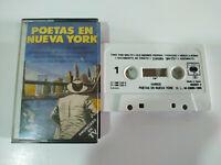 Poetas en Nueva York Lorca Leonard Cohen Paco de Lucia - Cinta Tape Cassette