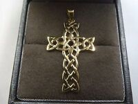 9ct Solid Gold Celtic Cross Pendant 1 gram * Fully Hallmarked *