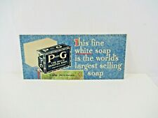 P&G White Naptha Soap Sign VTG Ad 1930s Largest Selling Canada RARE Cardboad