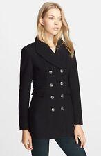 NWT BURBERRY $1195 WOMENS WOOL CASHMERE PEACOAT COAT JACKET SZ US 2 EU 36
