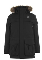 KARRIMOR Parka Jacket Mens Hooded Black Size UK S *REF106