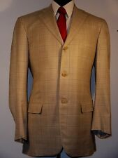ISAIA Napoli Neiman Marcus 130's wool sport coat, 46L, beige plaid, S base