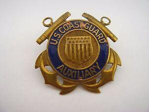Vintage Lapel Pin: US Coast Guard Auxiliary Screwback Style