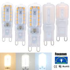 Регулируемая яркость, G9, 3 Вт, 5 Вт, 7 Вт, светодиодная вытянутая лампа свет силиконовый кристалл галогенная лампа 110 В 220 В