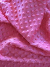 """FUCHSIA HOT PINK MINKY CUDDLE DIMPLE DOT SEWING QUILT CRAFT FABRIC BTY 60"""" wide"""