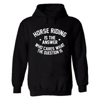 Horse Riding is The Answer Mens Printed Hoodie Funny Horse Lovers Birthday Gift