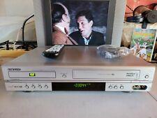 VIDEOREGISTRATORE VHS E DVD SAMSUNG SV-DVD3E 6 TESTINE PERFETTAMENTE FUNZIONANTE